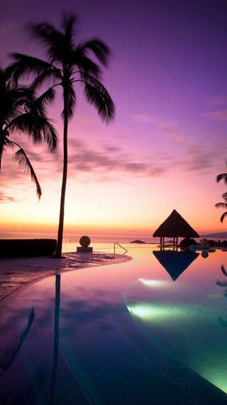 Обои на телефон восход, цветные, солнце, океан