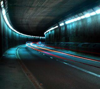 Обои на телефон цветные, туннель, colored tunnel, 2160x1920