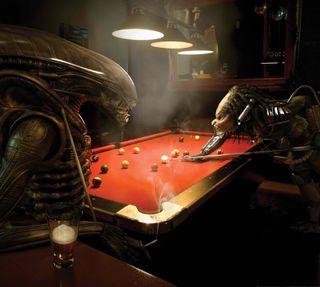 Обои на телефон хищник, против, пришелец, pool, alien vs predator