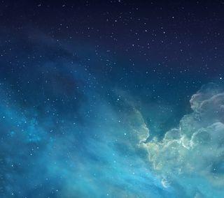 Обои на телефон эпл, облака, космос, звезда, ios, apple
