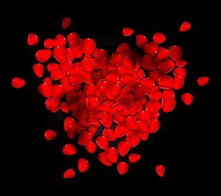Обои на телефон лепестки, сердце, романтика, розы, любовь, валентинка, petal heart, love