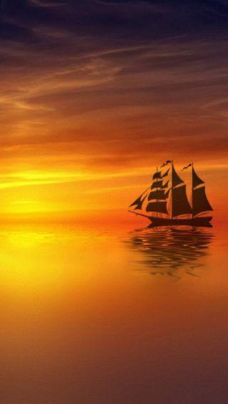 Обои на телефон корабли, природа, прекрасные, закат