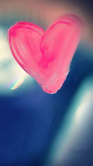 Обои на телефон чистые, окно, сердце, розовые, любовь, pure pink, love
