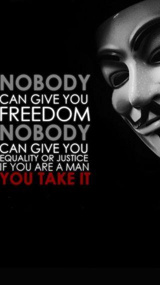 Обои на телефон цитата, свобода, поговорка, оно, джокер, анонимус, vjustice, vendata, take it, anonymous quote