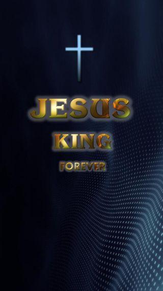 Обои на телефон библия, христианские, навсегда, король, исус, jesus king forever