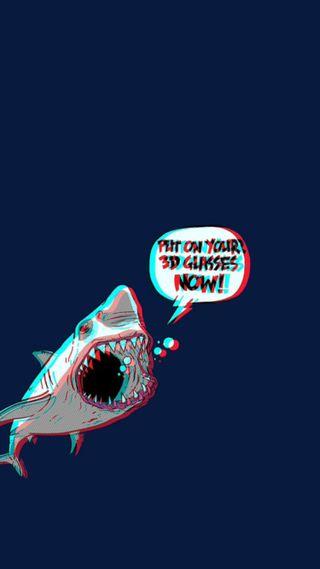 Обои на телефон акула, hger, hesr, 3д, 3d shark
