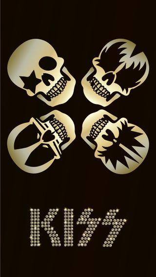Обои на телефон группа, череп, тяжелый, рок, поцелуй, металл, rock and roll, kiss skulls