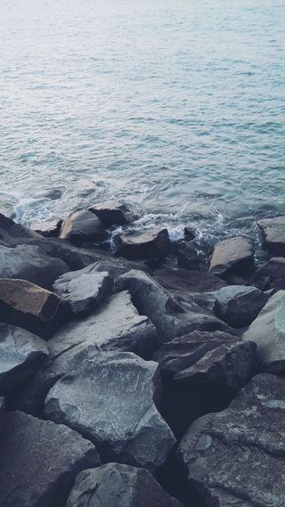 Обои на телефон рокки, релакс, море, камни, берег