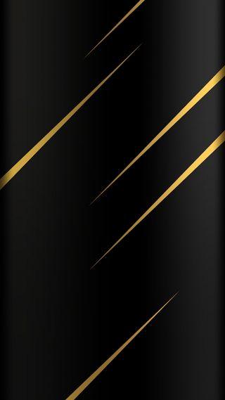 Обои на телефон черные, стиль, золотые, грани, абстрактные, s7, edge style