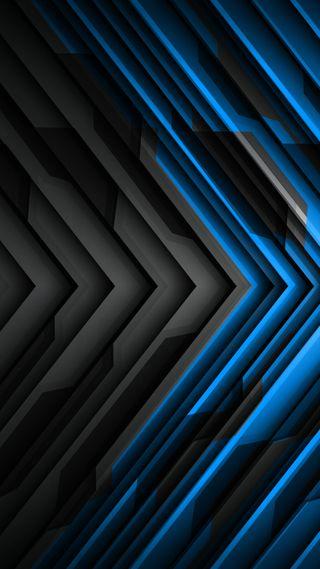 Обои на телефон шаблон, черные, темные, синие, клинок, дизайн, галактика, абстрактные, galaxy, bicolored, 3д, 3d