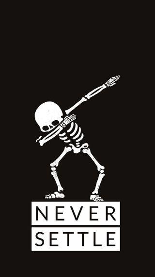 Обои на телефон стиль, скелет, решить, никогда, комедия, забавные, даб, oneplus never settle, oneplus, never settle, hd
