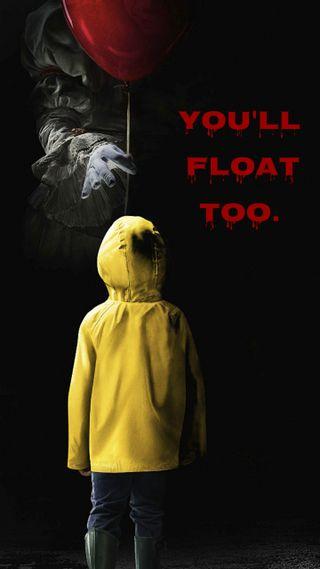 Обои на телефон шары, клоун, ты, страшные, стивен, пеннивайз, оно, мы, король, короли, youll float too, you will float, we all float, stephen king, scary clown, kings it, float