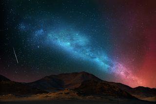 Обои на телефон стандартные, оригинальные, ночь, небо, навсегда, звезды, аврора, ubuntu