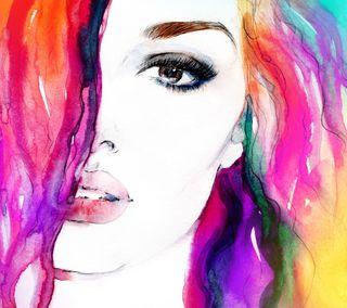 Обои на телефон artwater colors, абстрактные, красочные, девушки, цветные, картина