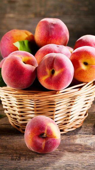 Обои на телефон фрукты, еда, plump, peaches
