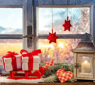Обои на телефон фонарь, украшение, рождество, звезды