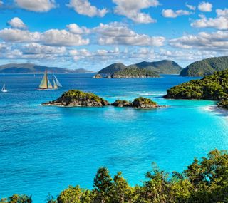 Обои на телефон тропические, острова, океан, море, лодка