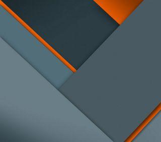 Обои на телефон серые, серебряные, оранжевые, материал, дизайн, андроид, lollipop, android