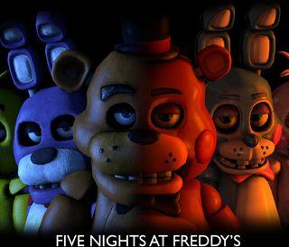 Обои на телефон ночью, игры, fredy, five, certoon