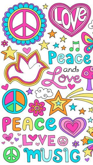 Обои на телефон мир, шаблон, символы, любовь, абстрактные, peace and love, love