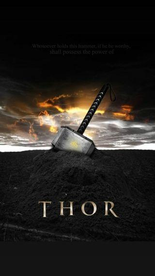 Обои на телефон гром, тор, молот, марвел, бог, marvel, hammer of thor, god of thunder