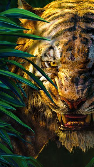 Обои на телефон книга, джунгли, sherekhan, junglebook, jungle book
