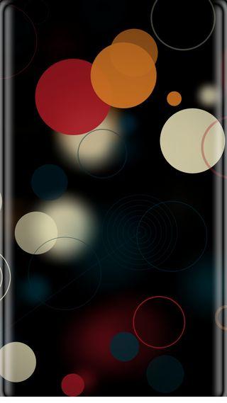 Обои на телефон черные, точки, красые, красочные, грани, боке, абстрактные, s7 edge