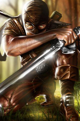 Обои на телефон меч, фантазия, воин, арт, art