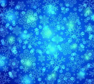 Обои на телефон снежинки, фон, синие, зима