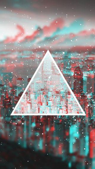 Обои на телефон треугольник, красочные, красота, город, арт, s8, s7, art