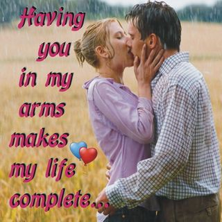 Обои на телефон поцелуй, сердце, романтика, пара, мой, любовь, крутые, жизнь, дождь, my life complete, love