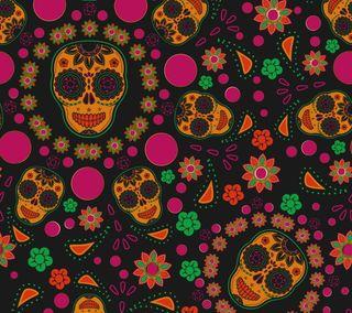 Обои на телефон абстрактные, цветы, красочные, векторные, череп, формы, голова, цветочные