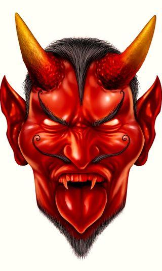 Обои на телефон дьявол, фон, красые, зло, red 3 d background, evil devil