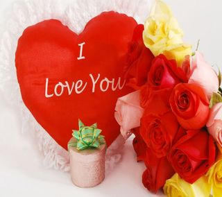 Обои на телефон подарок, ты, сердце, розы, любовь, красые, love gift, i love you