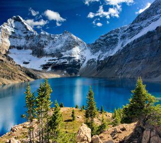 Обои на телефон mountain nature, природа, приятные, горы, взгляд