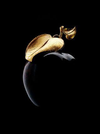 Обои на телефон элегантные, эпл, черные, темные, золотые, дизайн, арт, black apple, art