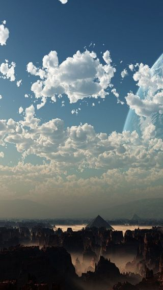 Обои на телефон глубокие, небо, земля