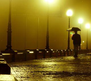Обои на телефон вечер, дождь, man