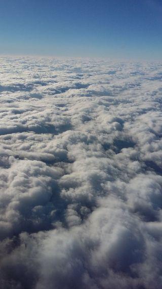 Обои на телефон самолет, облака, небо, clouds in the sky