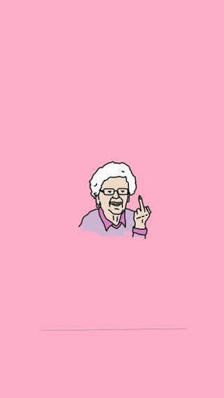 Обои на телефон темы, тема, средний, розовые, плохой, палец, настроение, plackpink, bad grandmother, bad