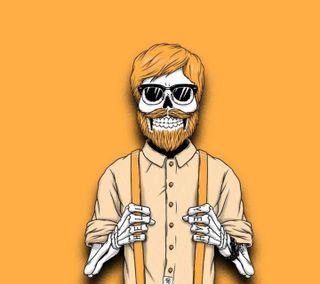Обои на телефон сумасшедшие, череп, хэллоуин, хипстер, темные, последние, новый, борода, hipster beard
