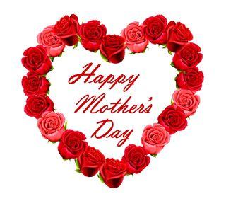 Обои на телефон мама, счастливые, сердце, розы, матери, день, happy