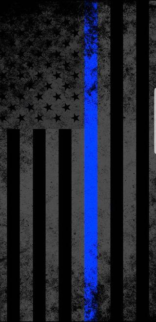 Обои на телефон полиция, флаг, синие, линии, officer, cop, 911