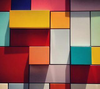 Обои на телефон плед, куб, коробка, квадратные, абстрактные, 3д, 3d