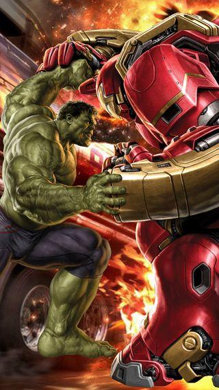 Обои на телефон против, халк, мстители, марвел, marvel, hulkbuster, hulk vs hulkbuster