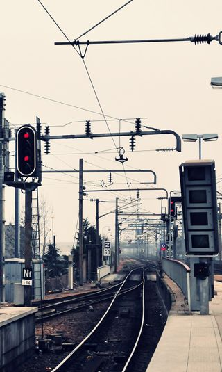 Обои на телефон поезда, свет, рельсы, городские, hd
