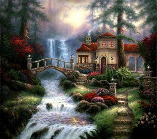 Обои на телефон река, солнце, сезон, приятные, природа, прекрасные, пейзаж, новый, лес, деревья, sun set