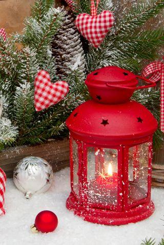 Обои на телефон фонарь, свеча, рождество