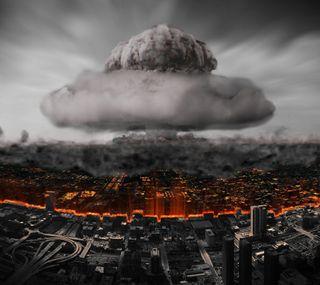 Обои на телефон ядерные, взрыв, город, война, бомба