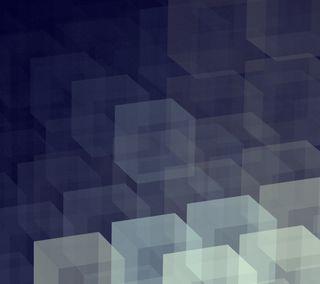 Обои на телефон куб, синие, cubed